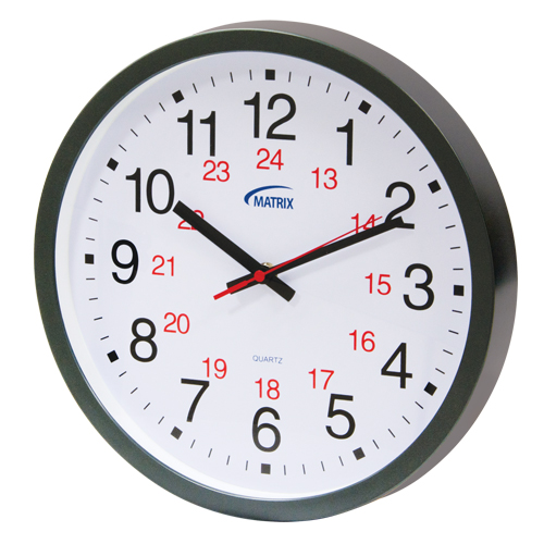 12/24 H Battery Operated Wall Clock HT072 | TENAQUIP
