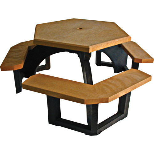 PLASTIC RECYCLING Recycled Plastic Hexagon Picnic Tables NJ CE - Recycled plastic hexagonal picnic table