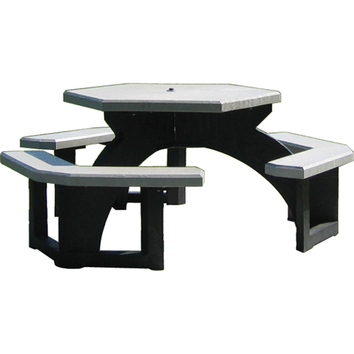 PLASTIC RECYCLING Recycled Plastic Hexagon Picnic Tables NJ GR - Recycled plastic hexagonal picnic table