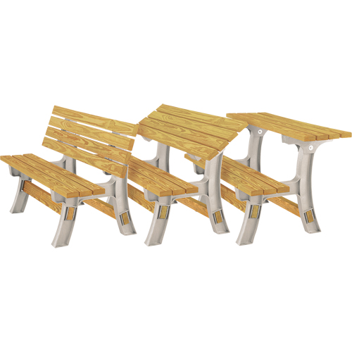 Banc De Parctable à Pique Nique Convertible 2x4 Basics Nj438