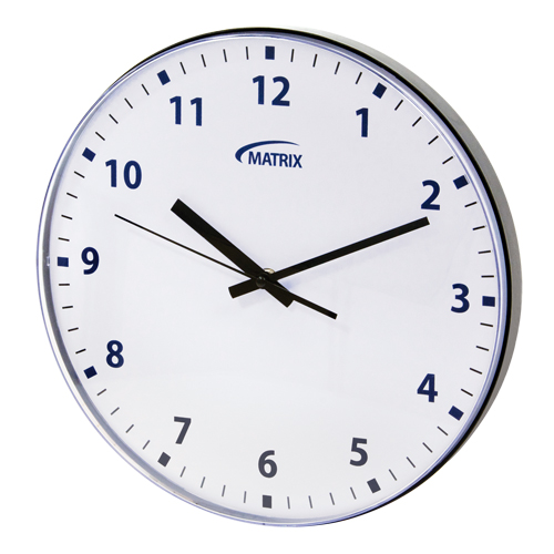 12 H Battery Operated Wall Clock OP237 | NIS Northern Industrial Sales