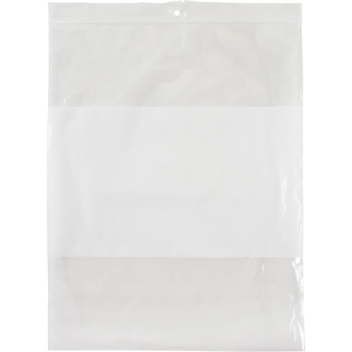 White Block Reclosable Poly Bags PF948 | NIS Northern Industrial Sales