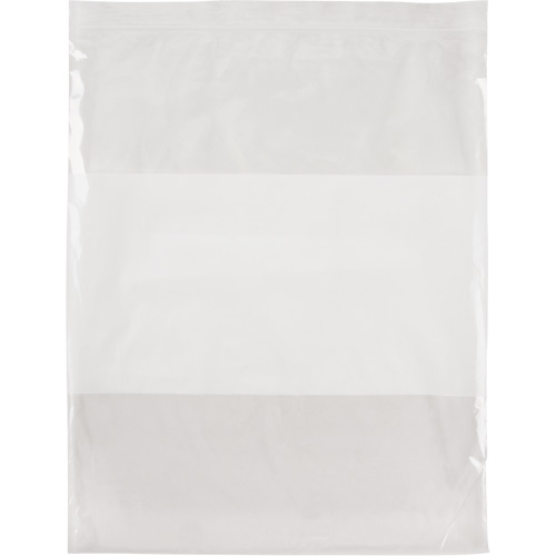 White Block Reclosable Poly Bags PF963 | NIS Northern Industrial Sales