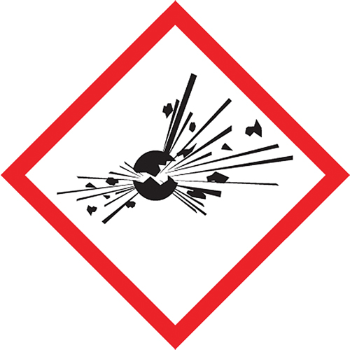 ACCUFORM SIGNS GHS Pictogram Labels SDN401 (LZH623PS5