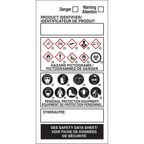 BRADY OTS WHMIS Labels SY074 (08662)