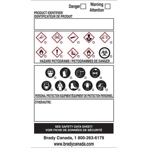 BRADY OTS WHMIS Labels SY084 (08657) | Shop WHMIS GHS & PPE Labels |  TENAQUIP