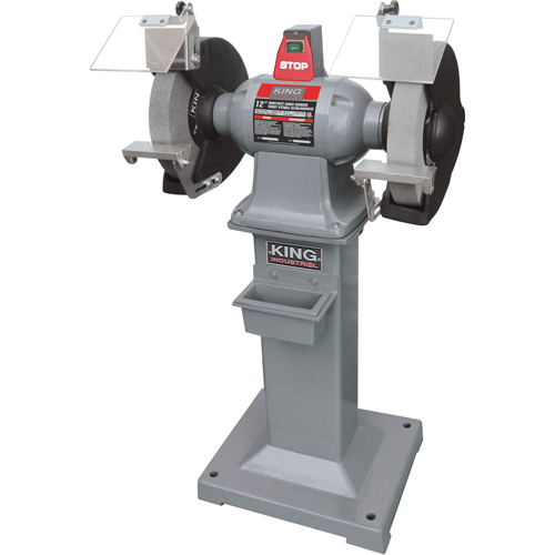 Wondrous King Canada 12 Heavy Duty Bench Grinder With Floor Stand Tma030 Kc 1295 Shop Stationary Belt Sander Tenaquip Bralicious Painted Fabric Chair Ideas Braliciousco