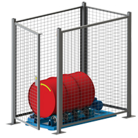 Stationary Drum Roller - Guard Enclosure DC583 | TENAQUIP