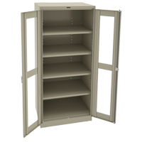 Deluxe C-Thru Storage Cabinet FL649 | NIS Northern Industrial Sales