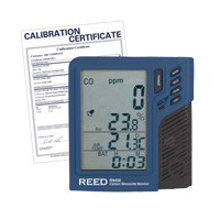 Carbon Monoxide Monitor with Temperature & Humidity (includes ISO Certificate) IB912 | TENAQUIP