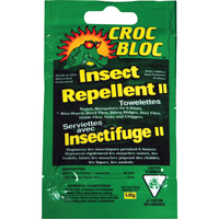 Croc Bloc™ 6-hr Insect Repellent Towelettes JA178 | NIS Northern Industrial Sales