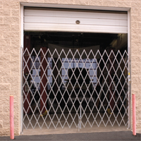 Galvanized Folding Security Gates KA090 | NIS Northern Industrial Sales