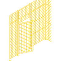 Wire Mesh Partition Components - Swing Doors KH933 | TENAQUIP