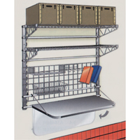Wall-Mounted Receiving Station - Brite Super Erectra Shelves ZB320 | TENAQUIP