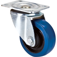 Blue Elastic Rubber Caster ML333 | NIS Northern Industrial Sales