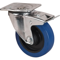 Blue Elastic Rubber Caster ML345 | TENAQUIP