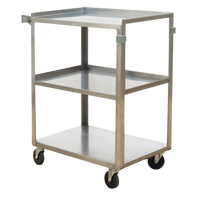 Stainless Steel Shelf Carts MO250 | NIS Northern Industrial Sales