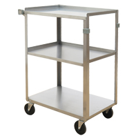 Stainless Steel Shelf Carts MO252 | NIS Northern Industrial Sales