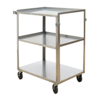 Stainless Steel Shelf Carts MO253 | NIS Northern Industrial Sales