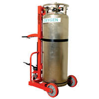 HYDRAULIC LARGE LIQUID GAS CYLINDER CART HLCC MO347 | NIS Northern Industrial Sales