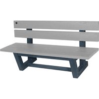 Recycled Plastic Outdoor Park Benches NJ024 | NIS Northern Industrial Sales