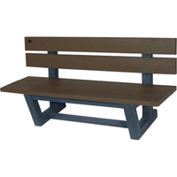 Recycled Plastic Outdoor Park Benches NJ025 | NIS Northern Industrial Sales