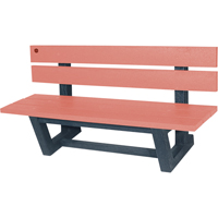 Recycled Plastic Outdoor Park Benches NJ028 | NIS Northern Industrial Sales