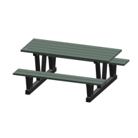Recycled Plastic Outdoor Picnic Tables NJ034 | NIS Northern Industrial Sales
