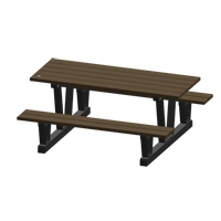 Recycled Plastic Outdoor Picnic Tables NJ035 | NIS Northern Industrial Sales