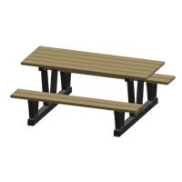 Recycled Plastic Outdoor Picnic Tables NJ037 | NIS Northern Industrial Sales