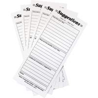 Suggestion Boxes - Suggestion Cards, 25/pkg OE811 | NIS Northern Industrial Sales