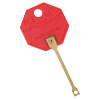 Self-Locking Octagonal Key Tags OK126 | TENAQUIP