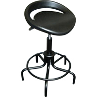 Swivel Stools with Oversized Polyurethane Seat ON566 | NIS Northern Industrial Sales