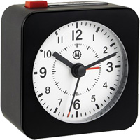 Mini Non-Ticking Analog Alarm Clock OQ833 | NIS Northern Industrial Sales