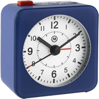 Mini Non-Ticking Analog Alarm Clock OQ834 | NIS Northern Industrial Sales