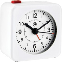 Mini Non-Ticking Analog Alarm Clock OQ835 | NIS Northern Industrial Sales