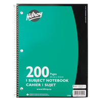 "NOTEBOOK SPRL 9""X6"" 200PG OTF623 
