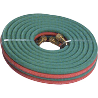 "WELDING HOSE TWIN 3/16""ID 7/16""OD 12.5FT GRADE R PB086 
