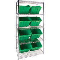 Wire Shelving Units with Storage Bins RL825 | TENAQUIP