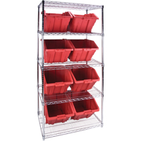 Wire Shelving Units with Storage Bins RL826 | TENAQUIP