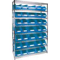 Wire Shelving Units with Storage Bins RL827 | TENAQUIP