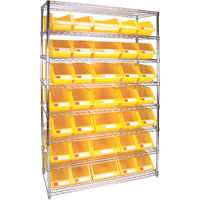 Wire Shelving Units with Storage Bins RL828 | TENAQUIP