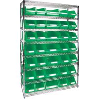 Wire Shelving Units with Storage Bins RL829 | TENAQUIP