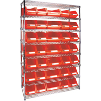 Wire Shelving Units with Storage Bins RL830 | TENAQUIP