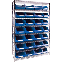 Wire Shelving Units with Storage Bins RL831 | NIS Northern Industrial Sales