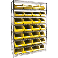 Wire Shelving Units with Storage Bins RL832 | TENAQUIP