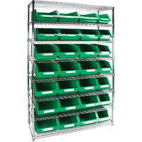 Wire Shelving Units with Storage Bins RL833 | TENAQUIP