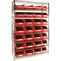 Wire Shelving Units with Storage Bins RL834 | TENAQUIP