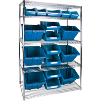 Wire Shelving Units with Storage Bins RL835 | TENAQUIP