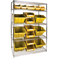 Wire Shelving Units with Storage Bins RL836 | TENAQUIP